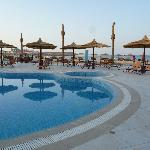 Swimming pool in front of the beach