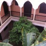 le patio vue des étages
