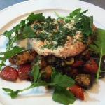 Butterfly chicken with provencal potatoes