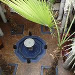 le patio vue du premier etage