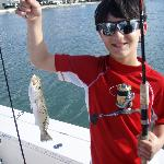 My 10 year old with his catch
