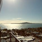 Great view of Rangitoto from 19th floor