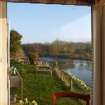 view from the dining room over the wye