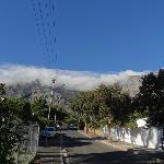 Strasse vor dem Haus, Sicht auf Tafelberg