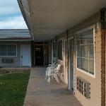 Innenhof und Waschraum