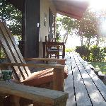 Our front porch where we enjoyed our coffee in the mornings