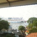Blick auf das Meer - AIDA-Einfahrt