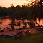 Sunset along the River Kwai