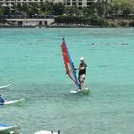 wind surfing at Pacific Islands Club
