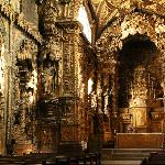 Incredible detail inside of Igreja de Santa Clara