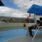Watching the volcanoes in our Mirador