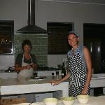 Christa and Marie in the kitchen
