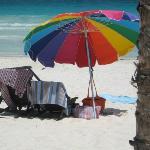 at their beach club la vita e bella