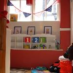 Kids area at the back of the cafe..