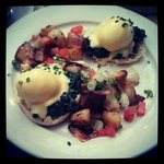 Perfectly poached Eggs Florentine at Tartine