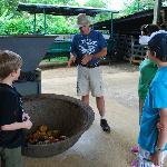 Pablo explaining the farm operations to us