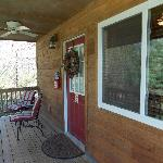 Porch on cabin