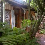 Cottage set in the garden
