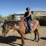 My wife on horseback