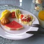 colazione - ma la foto è migliore della realtà