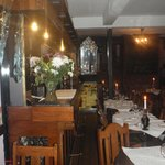 the lovely interior of the restaurant