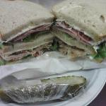 The famous Triple Decker Club $7.95...feeds 2 people