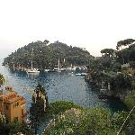 View from cliff walk from hotel to Portofino - stunning