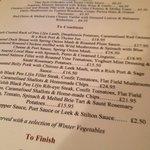 Superb menu choice. Winter 2011/12