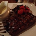 Lovely Welsh Black beef rib-eye steak. Cooked to perfection!