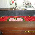 heart shaped tub upon request