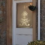 The dining room door