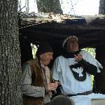 Il Cavaliere Bianco e il boscaiolo del Parco delle Fiabe