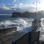 Early morning High Tide Newquay