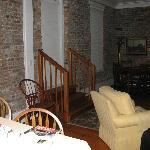 Exit to outside private balcony - note the original exterior brick wall