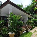 Tropical gardens surrounding our villas