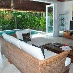 Harmony Villa Living area with bi-fold doors