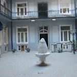 Baross City Hotel courtyard