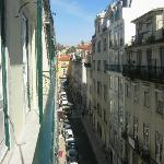 View from our apartment towards Rossio (Rua Sapateiros)