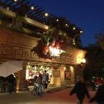 mike and Rach December 2011 outside rainforest cafe in downtown Disney Anaheim CA