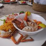 Delicious Mangrove Crab with Swahili rice and fresh red sweet tomato salad