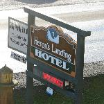 Hotel Sign along Highway