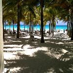 Vista del club de playa del Riu Lupita.