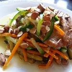 Juicy matambrito with warm salad