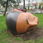 On the Museum's back lawn: Listen (2008) by Montclair sculptor Tom Nussbaum