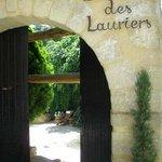 L'entrée sur le jardin intérieur
