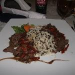 Filet Mignon with wild rice