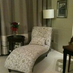 The chaise in our room! and FLOWERS!