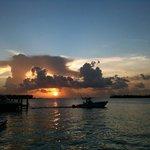 Sunset at the Sunset Tiki Bar