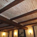 Brick Ceiling Hotel Dining Room