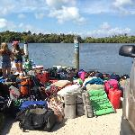 Waiting for the ferry to pick us to up to go to Cayo Costa